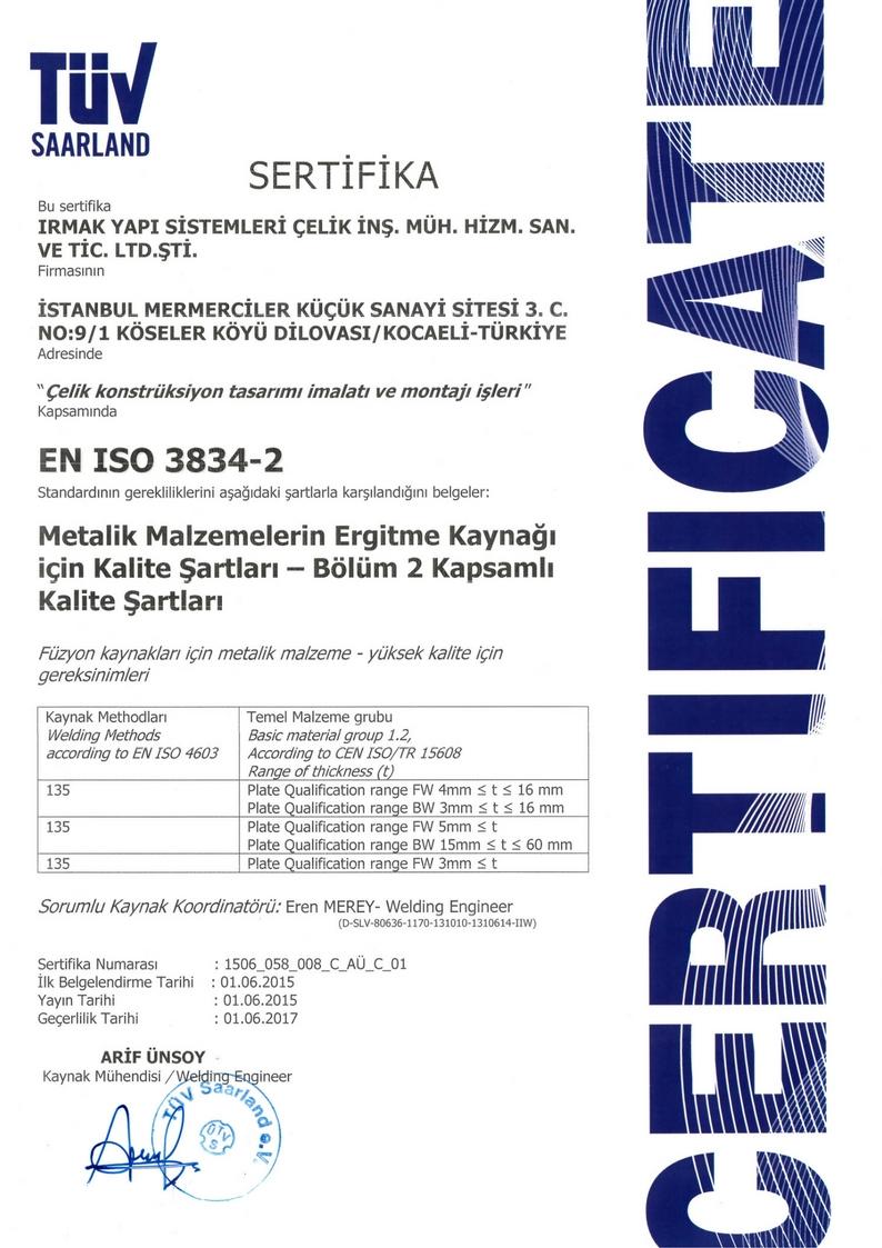 sertifikalar EN ISO 3834-2