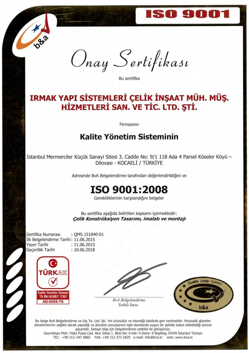sertifikalar ISO 9001:2008