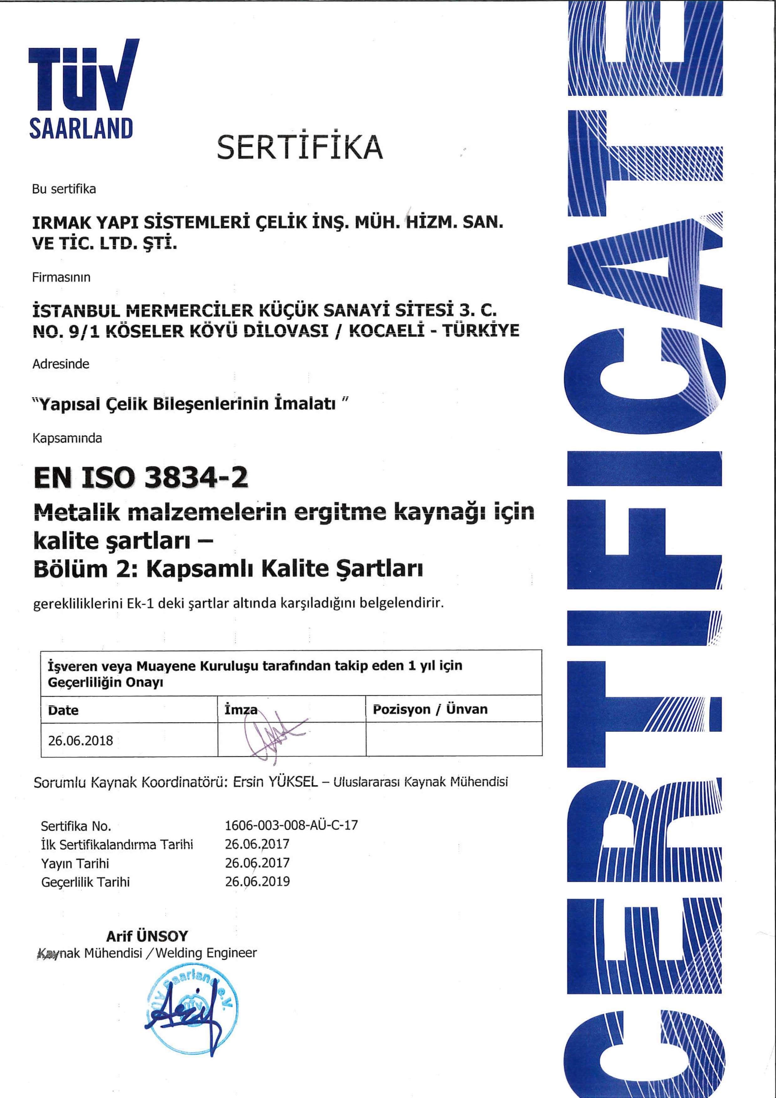 sertifika en iso 3834-2